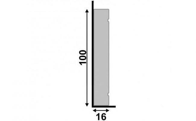 Guarnição Branca Inova 10cm medida