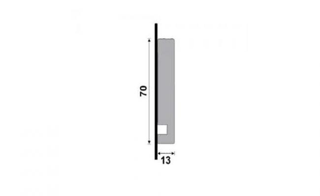Guarnição Branca Moderna 451 7cm medida