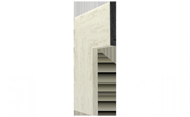 Guarnição Coleção Pedra Travertino branco Santa Luzia 3547 10cm