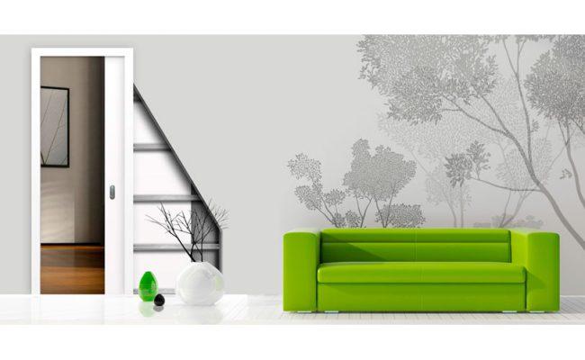 Porta de correr embutida drywall uma porta (1)