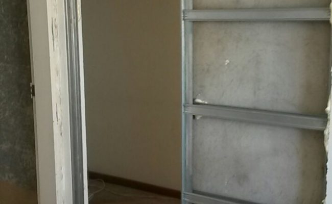 Porta de correr embutida drywall uma porta (2)