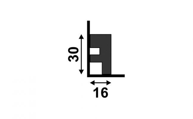 Rodapé Black santa luzia 3466 3cm medida
