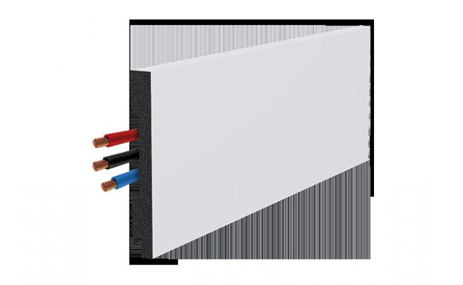 Rodapé Branco Engenharia Santa Luzia 3562 13cm detalhe