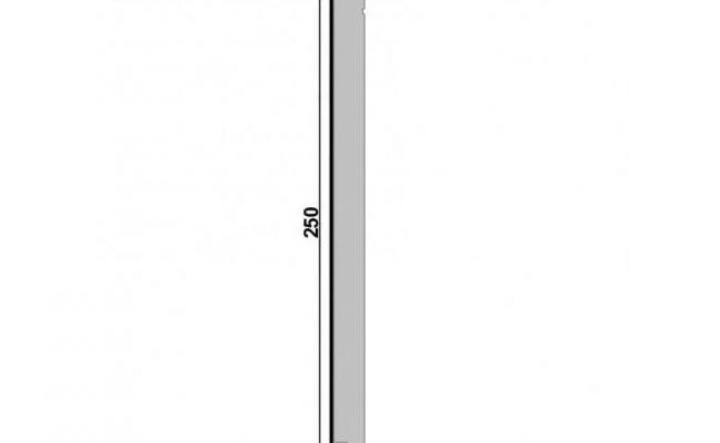 Rodapé Branco Inova Santa Luzia 520 25cm medida