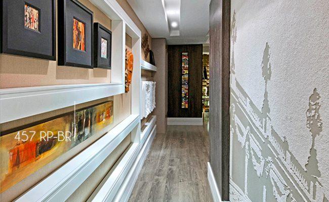Rodapé Branco Moderna Santa Luzia 457 10cm decoração