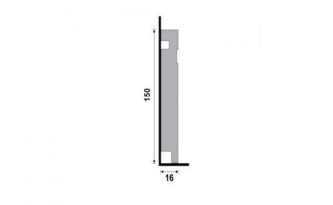 Rodapé Branco Moderna Santa Luzia 480 15cm medida