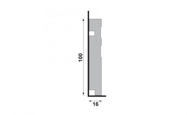 Rodapé Branco Moderna Santa Luzia 512 10cm medida