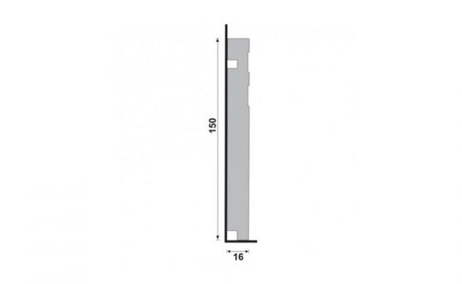 Rodapé Branco Moderna Santa Luzia 513 15cm medida