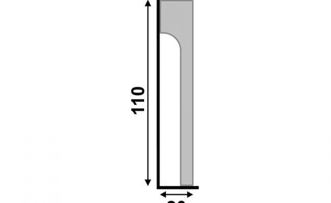 Rodapé Branco Reforma Santa Luzia 548 11cm sobrepor medida