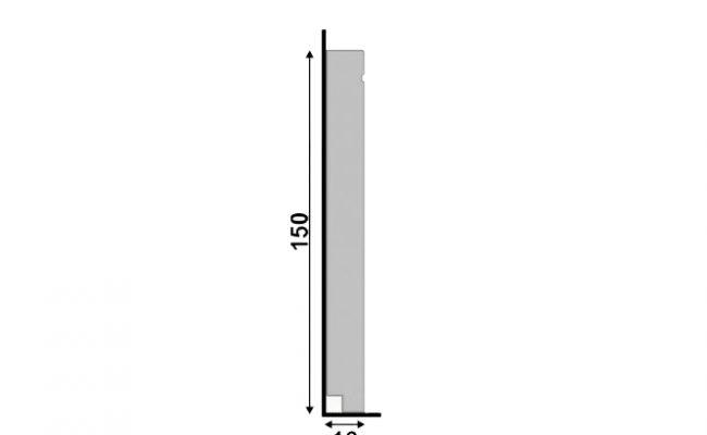 Rodapé Cinza Titanium Inova Uber Santa Luzia 518 15cm medida
