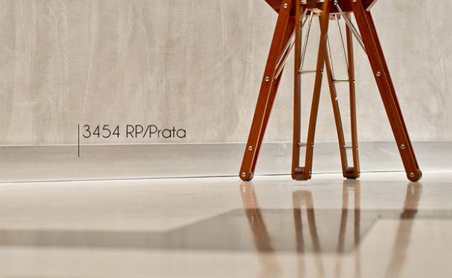 Rodapé Coleção Alumínio prata Santa Luzia 3454 10cm decoração 2