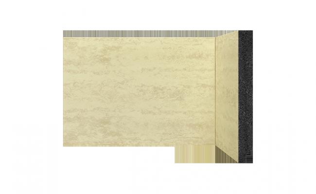 Rodapé Coleção Pedra Travertino bege Santa Luzia 3496 15cm