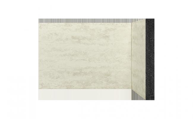 Rodapé Coleção Pedra Travertino branco Santa Luzia 3496 15cm
