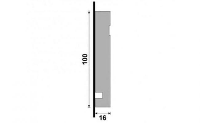 Guarnição Black 3457 10cm medida