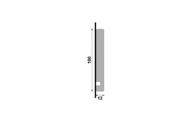 Guarnição Branca Moderna 454 10cm medida