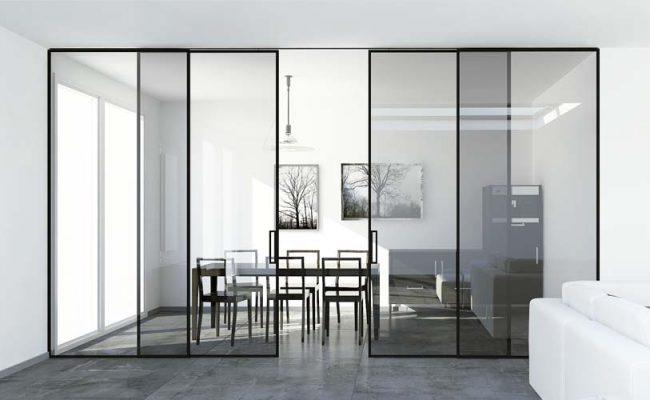 Porta de correr embutida teto duas portas ou mais de madeira ou vidro