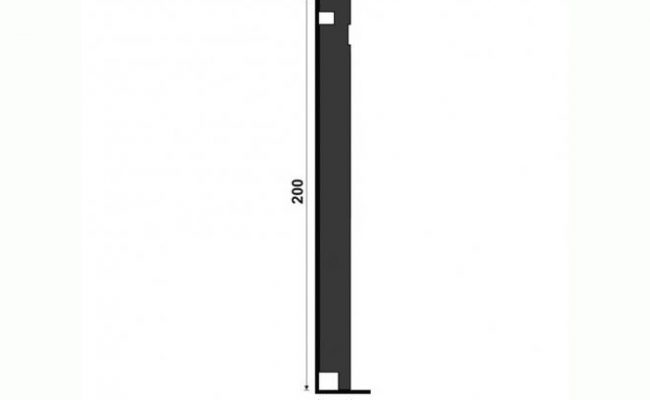 Rodapé Black santa luzia 505 20cm medida