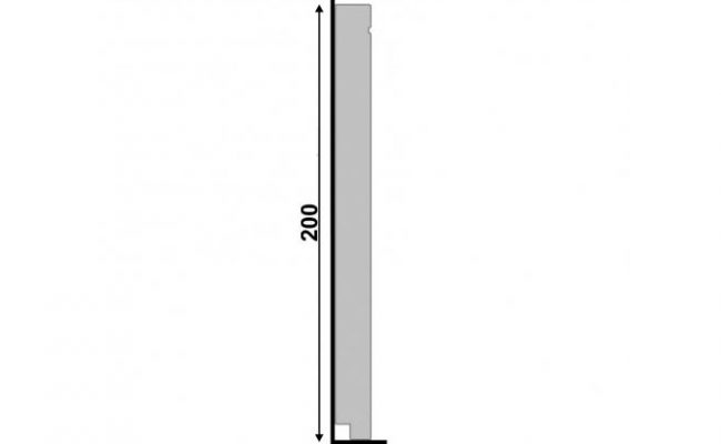 Rodapé Branco Inova Santa Luzia 519 20cm medida