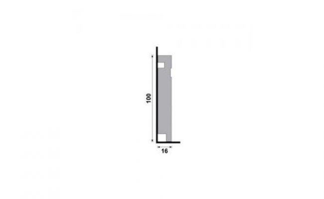 Rodapé Branco Moderna Santa Luzia 457 10cm medida