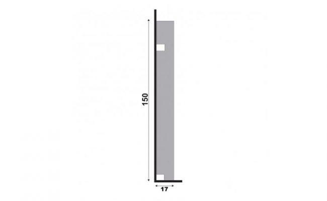 Rodapé Branco Moderna Santa Luzia 496 15cm medida 2