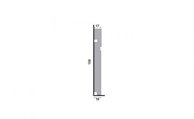 Rodapé Branco Moderna Santa Luzia 503 15cm medida
