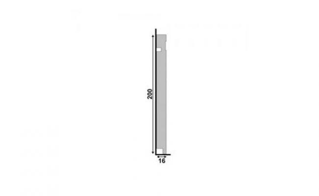Rodapé Branco Moderna Santa Luzia 505 20cm medida