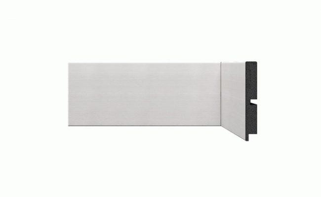 Rodapé Coleção Alumínio prata Santa Luzia 10cm