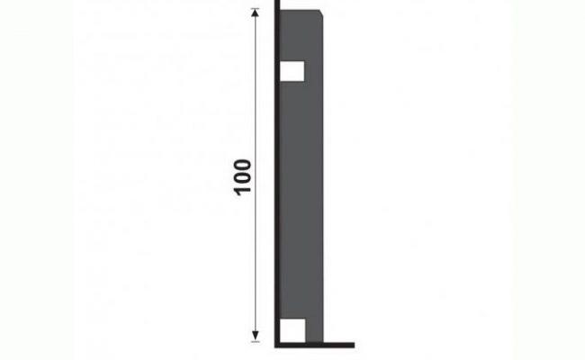 Rodapé Coleção Alumínio prata Santa Luzia 3454 10cm medida